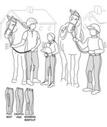 Suitability 2700 Womens and Girls Riding Tights Equestrian Sewing Pattern - $8.00