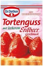 Dr.Oetker Tortenguss - Red Glaze - Pack of 3-Made in Germany FREE SHIPPING - $6.92