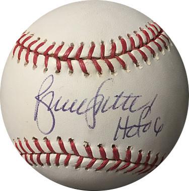 Bruce Sutter signed Official Major Baseball HOF 06- JSA Hologram #F16409 (Cubs/C