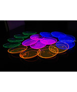 Blacklight Reactive 6 Inch 40ct Plastic Party Plates + FREE Blacklight B... - $18.95