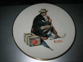 """Danbury Mint Norman Rockwell """"Pals"""" Limited Edition Gorham China Collector Plate - $19.79"""