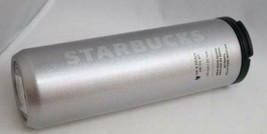 Starbucks Locking Stainless Steel Vacuum Insulated Tumbler Silver 16 fl ... - $29.65