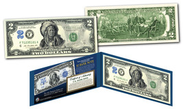 1899 Native American Indian Chief Bankote Designed on Genuine Modern $2 ... - $13.98