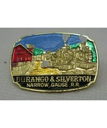 Vintage Painted Metal Durango Silverton Colorado Narrow Gauge Pin Button - $11.35