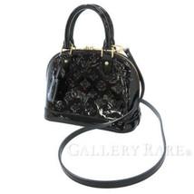 LOUIS VUITTON Alma BB Vernis Noir Handbag M90063 2Way Shoulder Bag Authe... - $1,437.40