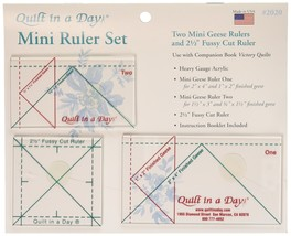 Quilt In A Day Mini Ruler Set, 3 Pieces - $24.09