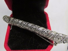 Victorian Platinum Posy Pin. Beautiful Filigree work. Mid to Late 1800s.... - $207.90