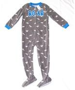 Carters Fleece Footed Pajama Blanket Sleeper 6 7 8 10 12 14 Dinosaur Roa... - $23.74