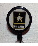 Army Badge Reel - Military - Army Badge - Army Id - Army Retractable Bad... - $8.99