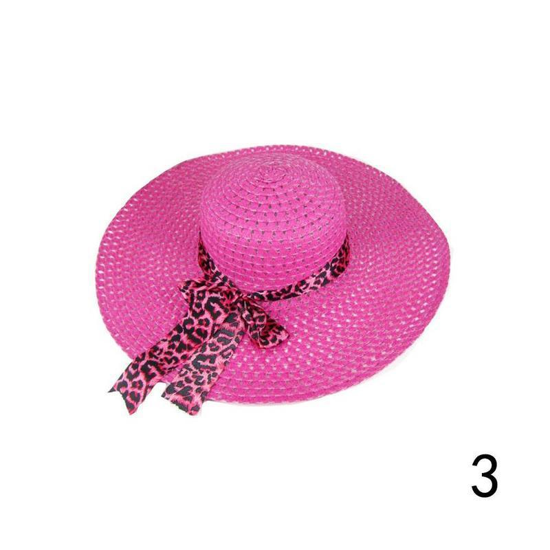 Huation 2019 New Sun Hats for Women Girls Wide Brim Floppy Straw Hat Summer Bohe image 3