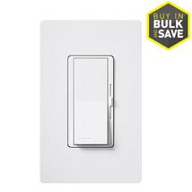 Lutron Diva 600-watt Single Pole White Indoor Dimmer DVW-600PH-WH Electr... - $46.50