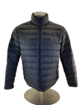 Polo Ralph Lauren Mens  Puffer Duck Down Jacket Coat Full Zip Black Medium - $79.01