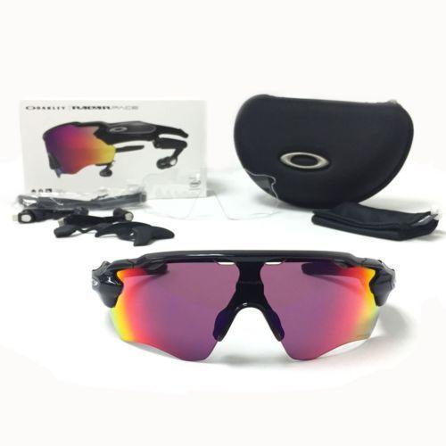 New Oakley Radar Pace Sunglasses OO9333-01 Black Shield  Frame Prizm Road Lenses