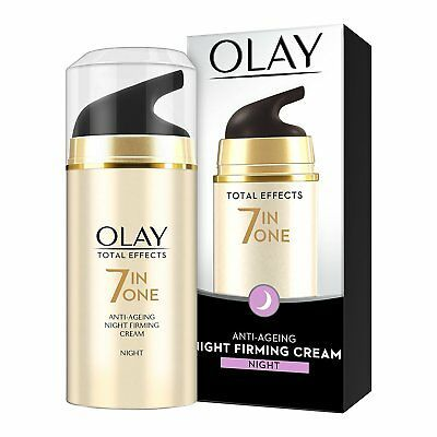 NEW PACK Olay Total Effects 7-In-1 Anti Ageing Night Firming Skin Cream, 20gm fs
