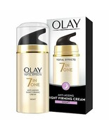 NEW PACK Olay Total Effects 7-In-1 Anti Ageing Night Firming Skin Cream,... - $12.97