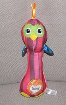 LAMAZE STUFFED PLUSH PINK OWL BIRD STICK RATTLE BABY GRASPING TOY NWOT NEW - $28.21