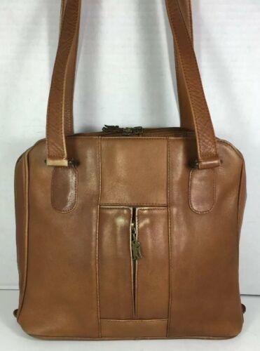 American Angel Brown Leather Multi Pocket Shoulder Bag – Distressed image 2
