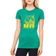 Grumpy Cat No Women's Kelly Green T-shirt NEW Sizes S-2XL - $22.76+