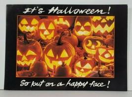 Halloween JOL Put on A Happy Face Hallmark Postcard P17 - $9.95