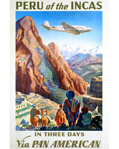 Peru Incas Pan American Travel Artwork Ancient Ruins 16x20 Canvas - $69.99