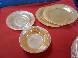 "Great Vintage FIRE KING ""Lustreware"" 2 BREAD Plates 1 BERRY Bowl 1 SAUCER - $10.11"