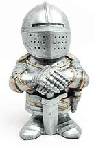 "Doll House Miniature 4.5"" Medieval Elite Templar Knight Sculpture Suit o... - £12.99 GBP"