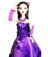 "Artist Made Purple Gown + Jewelry for Evangeline Ghastly 18"" Dolls 1/4 M... - $856,55 MXN"