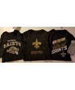 NFL TEAM  New Orleans Saints Toddler Sizes 6-9 M  9-12 M T-Shirts NWT - $11.04