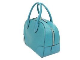 GUCCI Bright Diamante Leather Cobalt Blue 354224 Handbag Italy Authentic... - $603.44