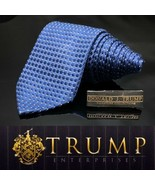 DONALD J. TRUMP~ SIGNATURE COLLECTION Dark Blue Luxury Tie Long - $101.20