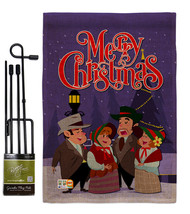 Christmas Carol Burlap - Impressions Decorative Metal Garden Pole Flag S... - $33.97