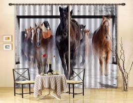 3D Horses Running 220 Blockout Photo Curtain Print Curtains Drapes US Lemon - $177.64+