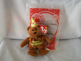 HAPPY BIRTHDAY BEAR #30 2009~Retired~Ty Teenie Beanie McD 30 Yrs Happy M... - $9.46