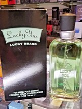 LUCKY YOU Liz Claiborne 3.3 3.4 oz 100 ml Men Cologne EDC Spray NEW IN BOX - $43.99