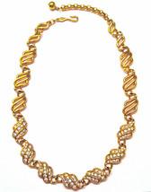 """N API Er Gold Tone Crystal Rhinestone 18.75"""" Statement Necklace Euc - $19.79"""