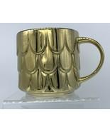 Starbucks 2019 Holiday Edition Gold Mermaid Scales Scalloped Coffee Mug ... - $28.21