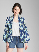 Gap Open-Front Print Swing Jacket, 100% Rayon, Multicolor, Size L/XL, NWT - $44.99