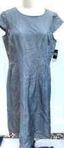 Sandra Darren Womens 16 Gray Knee Length A Line Dress Cap Sleeves NWT $88 - $29.50