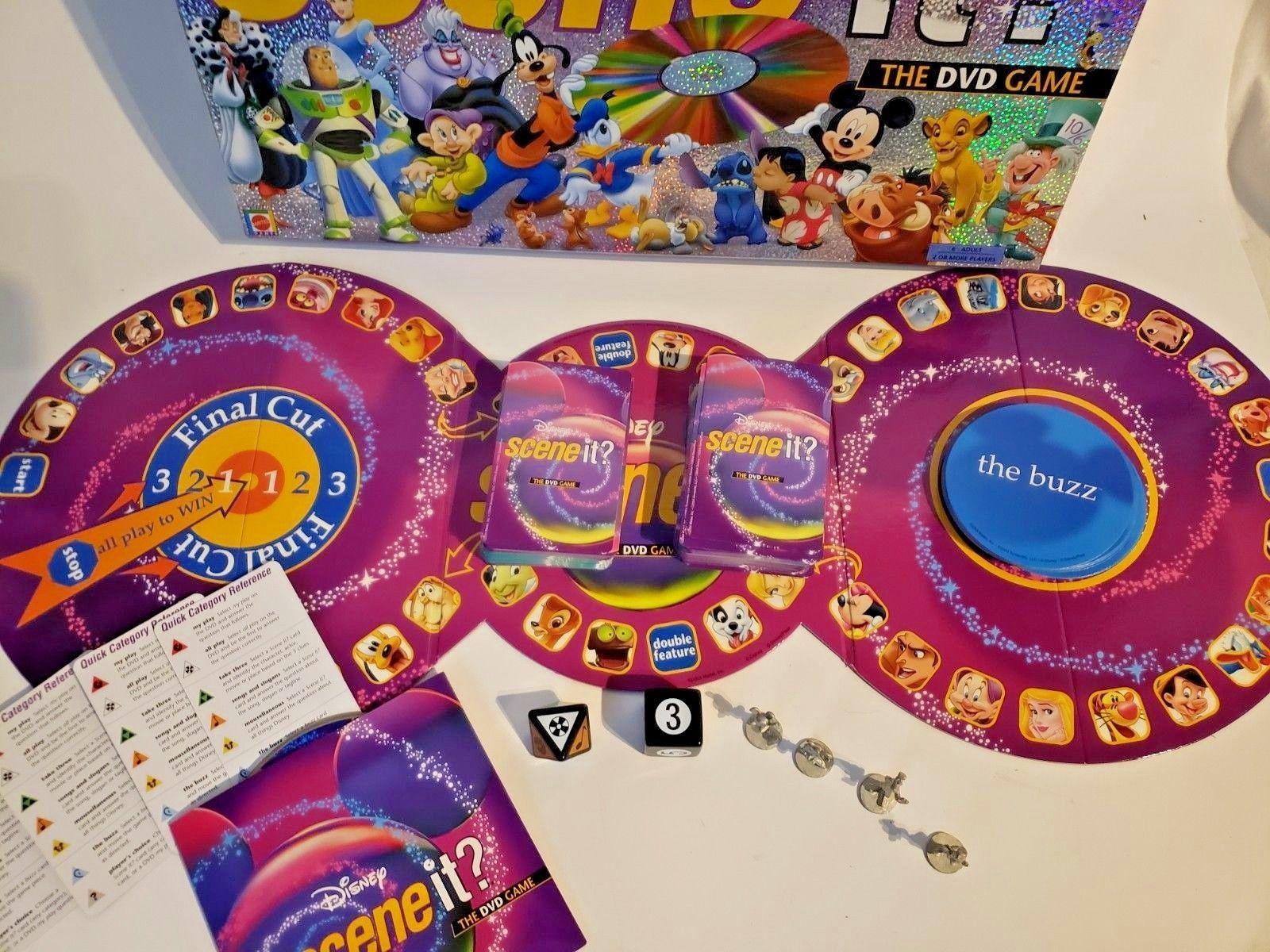 Disney Scene It! The DVD Game 1st Edition 2004 Mattel Pixar Characters!!!! image 2