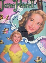 VINTAGE UNCUT 1951 JANE POWELL PAPER DOLLS~#1 REPRODUCTION~RARE NOSTALGI... - $18.25