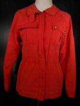Beautiful Women's PS Petite Small Talbots Red LS Zipper Windbreaker Jack... - $26.98