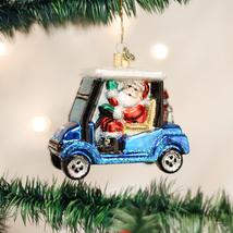 OLD WORLD CHRISTMAS GOLF CART SANTA GLASS CHRISTMAS ORNAMENT 40287 - $21.88