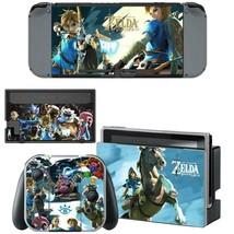 Nintendo Switch Console Joy-Con Dock Vinyl Skin Zelda Breath of the Wild Link - $9.60