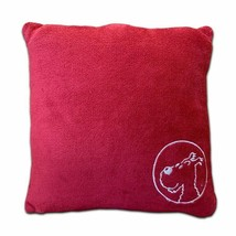 Snowy large red soft cushion Official Tintin product