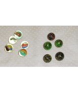 CAT'S EYES MARBLES 5 & 5 SPECKLED MARBLES VTG. - $6.99