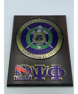Omega Psi Phi Sorority Wall Plaque Wood Shield Wall Plaque Office Decor - $53.90