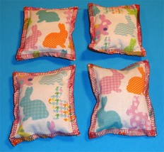 Cat Catnip Pillow Toy - Hand Made Color Bunny Patterns Rectangle - 4 ea - $5.50