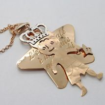 Silver Necklace 925 Laminated IN Rose Gold LE FAVOLE With Prince And Star image 6