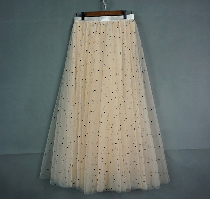 Cream tulle skirt 1