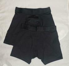 Boys 2 pack boxer briefs, regular and long leg,  All in Motion black Siz... - $7.00